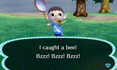 I caught a bee! Bzzz! Bzzz! Bzzz!