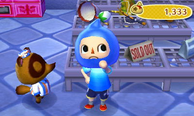 Wearing a blue Pikmin hat that I got from a fortune cookie.