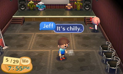 Jeff, using the sighing emotion in Club LOL: It's chilly.