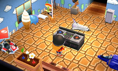Jeff standing at the DJ's turntable.