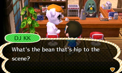 DJ KK: What's the bean that's hip to the scene?