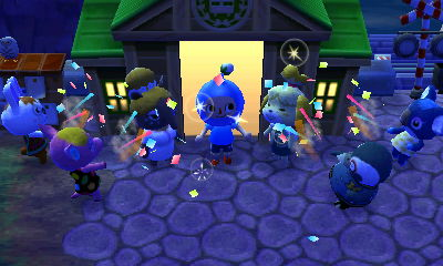 The completion ceremony for the Dream Suite. Luna showed up for the party.