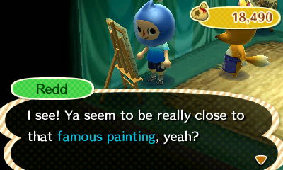 Redd: I see! Ya seem to be really close to that famous painting, yeah?