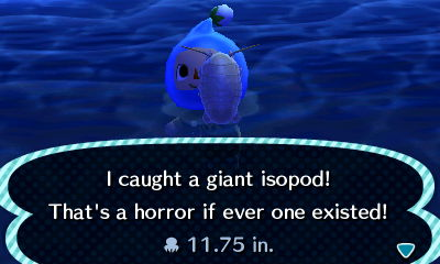 I caught a giant isopod! That's a horror if ever one existed!