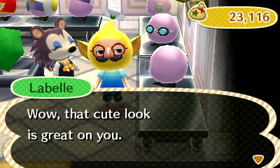 Labelle: Wow, that cute look is great on you.