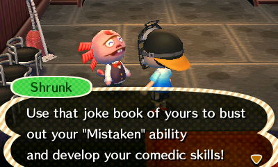 """Shrunk: Use that joke book of yours to bust out your """"Mistaken"""" ability and develop your comedic skills!"""