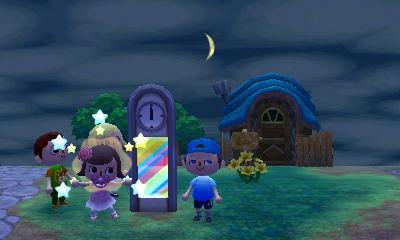 Watching the modern clock light up at midnight.