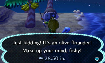 Just kidding! It's an olive flounder! Make up your mind, fishy!