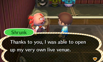 Shrunk: Thanks to you, I was able to open up my very own live venue.