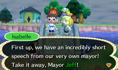 Isabelle: First up, we have an incredibly short speech from our very own mayor!