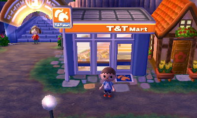The outside of T&T Mart, the convenience store on Main Street.