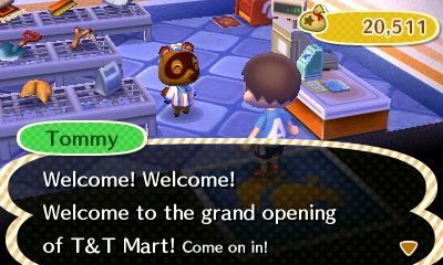 Tommy: Welcome! Welcome! Welcome to the grand opening of T&T Mart! Come on in!