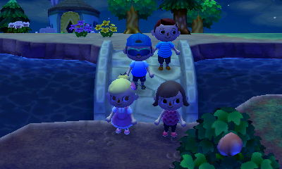 Wendy, Annissa, Aaron, and me hanging out on my bridge.