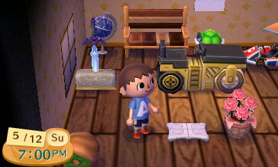 The Wii Balance Board on display in my New Leaf house.