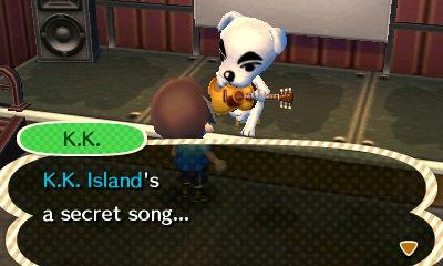 K.K.: K.K. Island's a secret song...