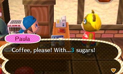 Animal Crossing New Leaf Leonardo Coffee
