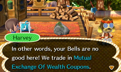 Harvey: In other words, your bells are no good here! We trade in Mutual Exchange Of Wealth Coupons.