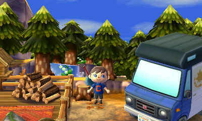 The drive-in campground in AC New Leaf Welcome Amiibo.