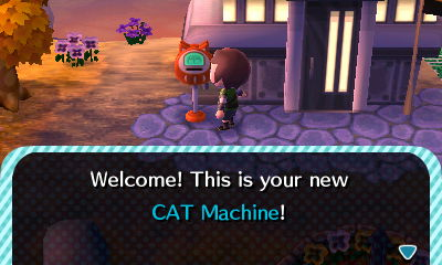 Welcome! This is your new CAT Machine!