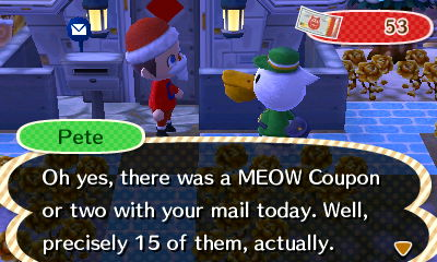 Pete: Oh yes, there was a MEOW Coupon or two with your maiil today. Well, precisely 15 of them, actually.