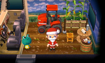 Tad's farming themed RV at the drive-in campground.