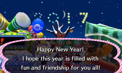 Happy New Year! I hope this year is filled with fun and friendship for you all!