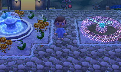 The fountain and illuminated clock PWPs in the dream town of Funkytwn.