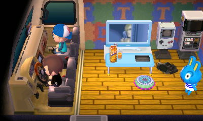 Hopkins is shocked when I blow the horn of his RV.