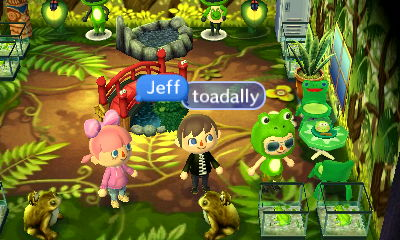 Jeff, in a frog room: Toadally.