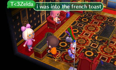 T Zelda: I was into the french toast...