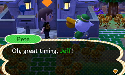 Pete: Oh, great timing, Jeff!