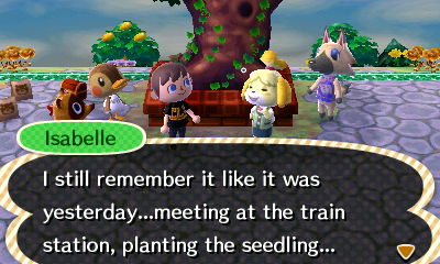 Isabelle: I still remember it like it was yesterday...meeting at the train station, planting the seedling...