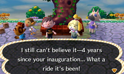 I still can't believe it--4 years since your inauguration... What a ride it's been!