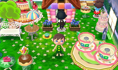 A room of sweets, also with a tea cup ride.