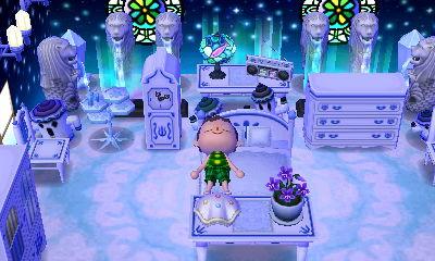 Sleepy in a cloudy, dreamy, starry room.