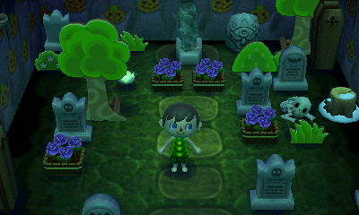 A cemetary room in the dream town of Pallet.