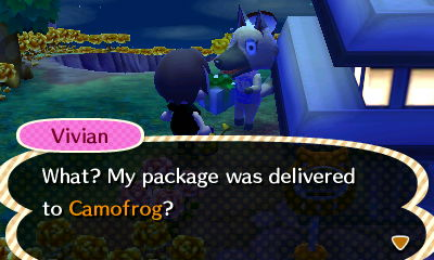 Vivian: What? My package was delivered to Camofrog?