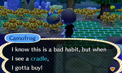 Camofrog: I know this is a bad habit, but when I see a cradle, I gotta buy!