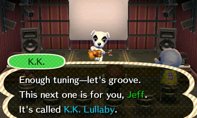 K.K.: Enought tuning--let's groove. This next one is for you, Jeff. It's called K.K. Lullaby.