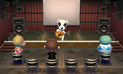 K.K. Slider performs for Elise, Jeff, and Sprinkles.