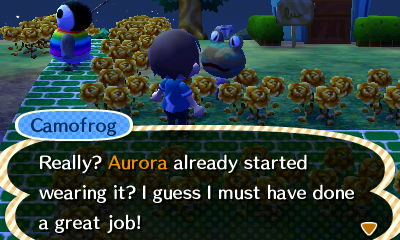 Aurora: Really? Aurora already started wearing it? I guess I must have done a great job!