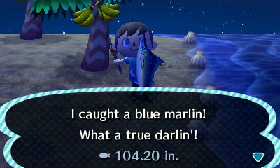I caught a blue marlin! What a true darlin'!