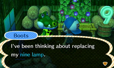 Boots: I've been thinking about replacing my nine lamp.