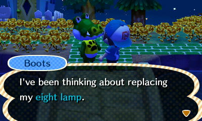Boots: I've been thinking about replacing my eight lamp.