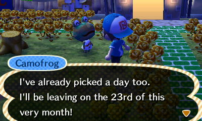 Camofrog: I've already picked a day too. I'll be leaving on the 23rd of this very month!
