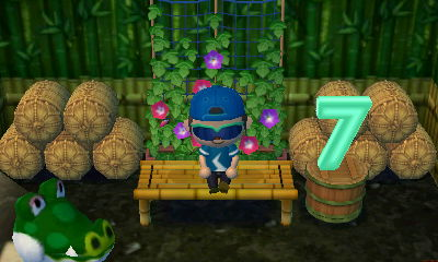 A green seven lamp in Boots' house in Animal Crossing: New Leaf.