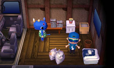 Hornsby's RV in Animal Crossing: New Leaf for Nintendo 3DS.