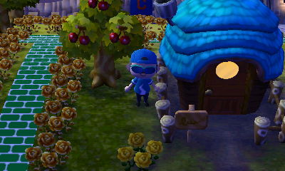 Hornsby's house in Forest in ACNL.