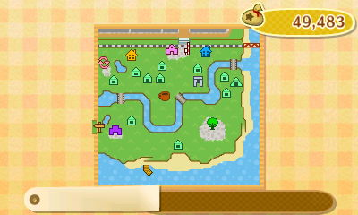 Town map of Forest in Animal Crossing: New Leaf.