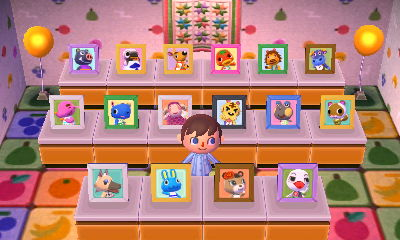 Villager pictures of Welcome Amiibo animals.
